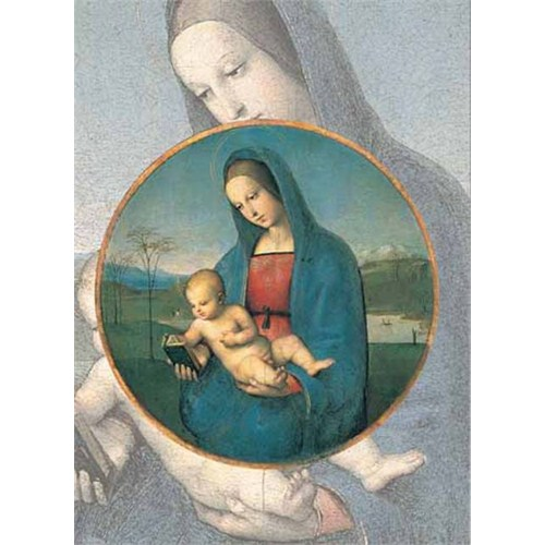 Ricordi Puzzle Vergine Bon bambino, Raffaello (1000 Parça)