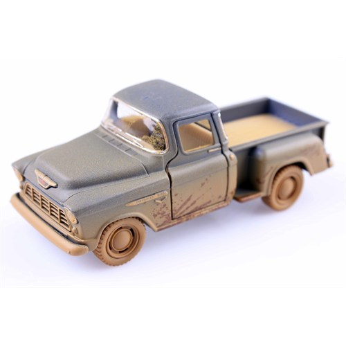 Diecast Off-Road 1955 Chevy Stepside Pick-Up Çek Bırak 1/32 Die Cast Model Araç