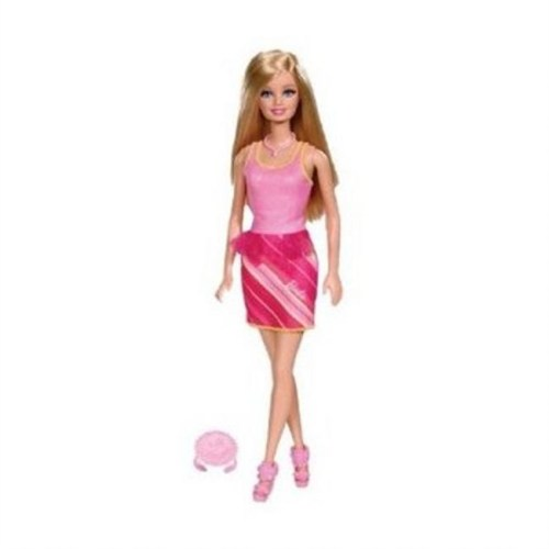 Manken Barbie Bebek Pembe Kıyafetli