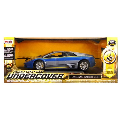 Maisto Lamborghini Murcielago Lp640 Model Araba 1:18 Need For Speed Undercover Mavi