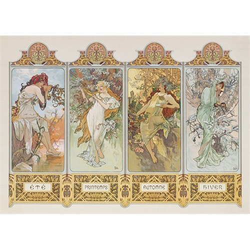 Clementoni Puzzle The 4 Seasons, Mucha (1000 Parça)