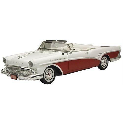 Motormax 1:18 1957 Buıck Roadmaster -Kırmızı-Beyaz Model Araba