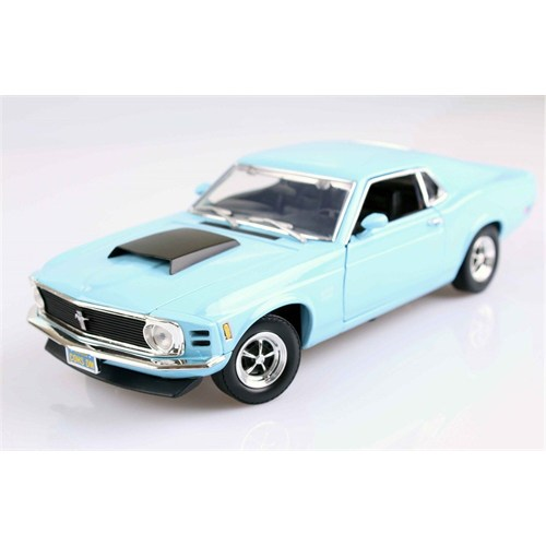 Motormax 1:18 1970 Ford Mustang Boss 429 -Mavi Model Araba