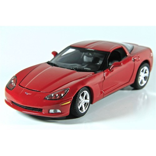 Motormax 1:24 2005 Corvette C6 -Kırmızı Model Araba
