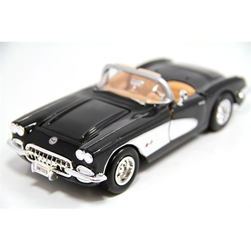 Motormax 1:24 1959 Corvette -Siyah 73216 - Model Araba