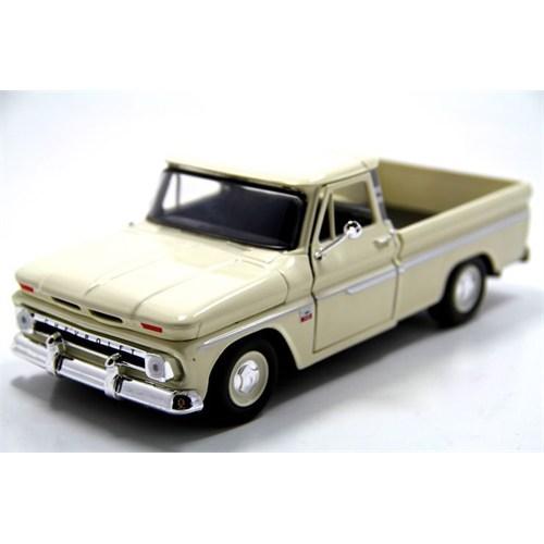 Motormax 1:24 1966 Chevy C10 Fleetside Pickup -Krem Model Araba