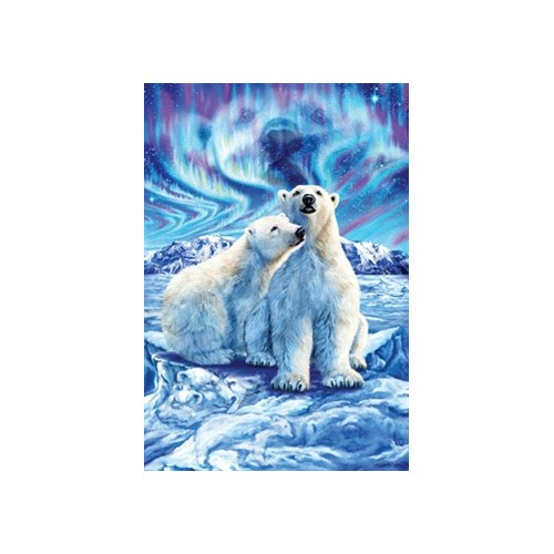 Masterpieces Puzzle Polar Bear Lights (500 Parça)