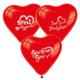 Hergunyeni Seni Seviyorum Basklı Kırmızı Kalpli Balon 100 Adet