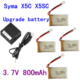 Syma X5C-1,X5Sc,X5Sw,M68,Cx30,U816A Şarjlı Pil Batarya Seti 800 Mah