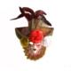 Partistok Güllü Dekoratif Seramik Maske Kırmızı
