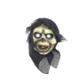 Partistok Cadılar Bayramı İskelet Maskesi Pelerinli