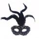 Partistok Tüylü Venedik Parti Maskesi Siyah