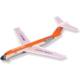 Lyonaeec Passenger Airplane Md-82 Lastik Fırlatmalı Serbest Model Uçak