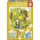 Educa Puzzle Wild Animals 12-16-20-25 Parça Progressive Puzzle