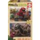 Educa Puzzle Dinotrux 2 X 50 Parça Ahşap Puzzle