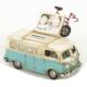 Mnk Volkswagen Minibüs Resim Çerçeveli Kumbara / Eskitilmiş Görünümlü Komple Metal El İşçiliği 3395Ss