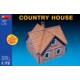 Miniart 1/72 Ölçek Plastik Maket, Taşra Evi, Renkli Kit