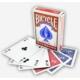 Bicycle Standart Poker İskambil Oyun Kağıdı (4 Tarafı Yazılı Oyun Kartı Kırmızı)