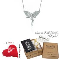 Glorria Gümüş Melek Kolye - Hediye Seti - Dt0013-Hs