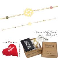 Glorria 14 Ayar Altın Kar Tanesi Bileklik - Hediye Seti