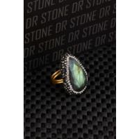Dr Stone Doğaltaş -Kadın Labrodorit Yüzük 20Ar487