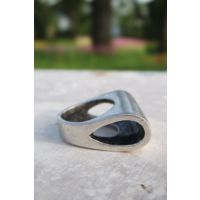 Sofistiqe Silindir Gümüş Kaplama Yüzük