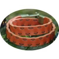 Onka Tasarım Portakal Rengi Çift Dolama Deri Bileklik