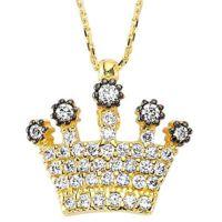 Kraliçe Tacı Kolye 2,70 Gram 14 Ayar Altın