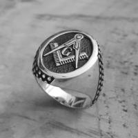 Chavin Mason Yüzüğü Gümüş Erkek Yüzük de81