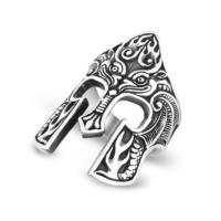 Chavin Miğfer Tasarım Gümüş Erkek Yüzük df72