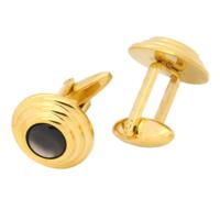 Chavin Sedefli Altın Kaplama Çelik Kol Düğmesi az55