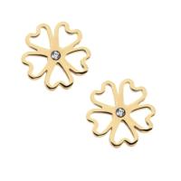 Doliche Altın Kaplama Çiçek Çelik Küpe ah63