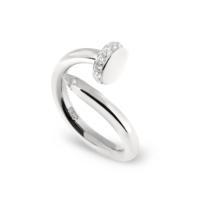 Chavin Çivi Dizayn Taşlı Gümüş Bayan Yüzük ct76