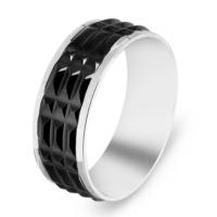 Chavin Siyah Ipc Kaplama Çelik Yüzük ct52