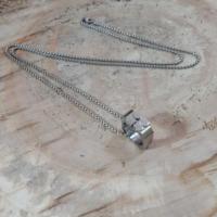 Chavin Özel Şekilli Çelik Uzun Zincirli Erkek Kolye ae67k