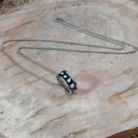 Chavin Sedefli Çelik Uzun Zincirli Erkek Kolye 610k