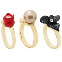 Bee One ,zirkon taşlı,yapay incili ,çiçek bijoux yüzük bh88