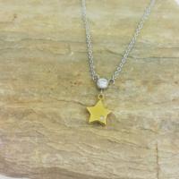 Chavin Yıldız Altın Kaplama Çelik Bayan Kolye au99