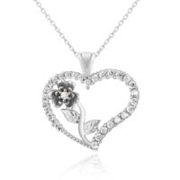 Chavin Kalbimin Gülü, Kalpli Gümüş Bayan Kolye de41