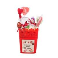 BuldumBuldum Sevgililer Günü Hediyesi Şeker Kovası - Kırmızı