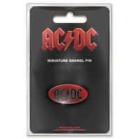 Rock Off ACDC Oval Logo Mini İğne Badge