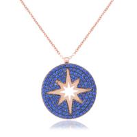 Coşar Silver Kuzey Yıldızlı Madalyon Kolye CZ2642N-5