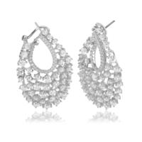 Coşar Silver Büyük Gümüş Küpe CZ-EAR0905-2