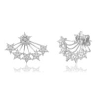 Coşar Silver Beş Yıldızlı Gümüş Küpe CZ-EAR1009-2