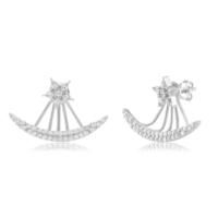 Coşar Silver Yıldızlı Kayık Gümüş Küpe CZ-EAR1013-2