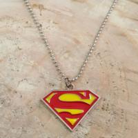 Chavin Sarı Kırmızı Süperman Uzun Çelik Erkek Kolye dg22