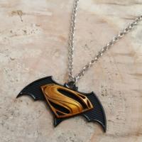Sarı Siyah Batman Süperman Metal Erkek Kolye dg26