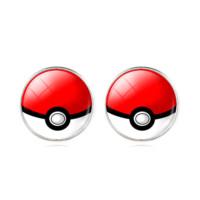 Pokemon Kırmızı Renk Küpe dg40