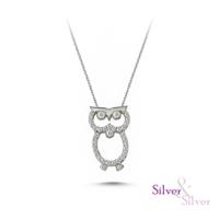 Silver & Silver Baykuş Kolye