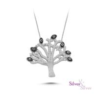 Silver & Silver Hayat Ağacı Nazar Kolye